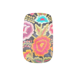 Mexican Embroidery design Minx Nail Wraps