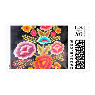 Mexican Embroidery design Postage
