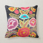 "Mexican Embroidery design Throw Pillow<br><div class=""desc"">add text or upload your own image</div>"