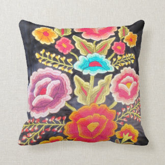 Mexican Embroidery design Throw Pillow