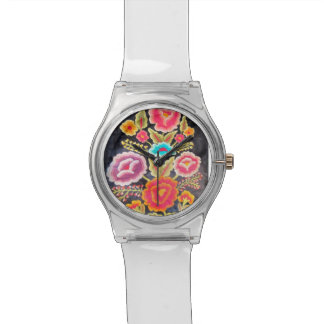Mexican Embroidery design Wristwatch