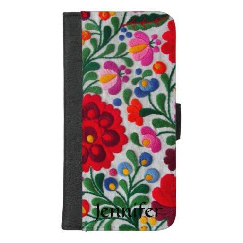 Mexican Embroidery Image Flowers Phone Case