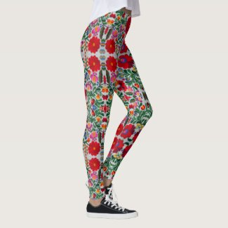 Mexican Embroidery Image Pretty Women's Yoga Pants