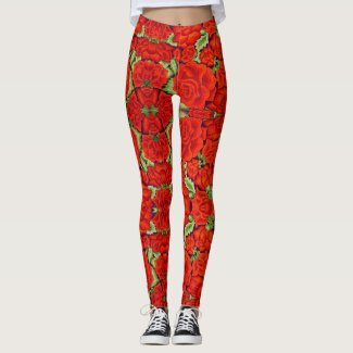Mexican Embroidery LEGGINGS Women's Yoga Pants