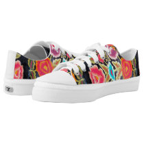 Mexican Embroidery pattern tennis shoes