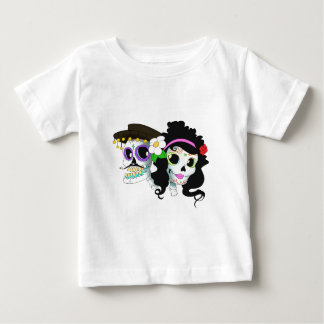 Mexican Festive Skull Couple Baby T-Shirt