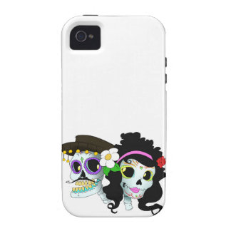 Mexican Festive Skull Couple iPhone 4/4S Cover