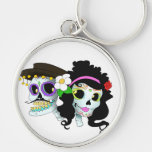 Mexican Festive Skull Couple Key Chains