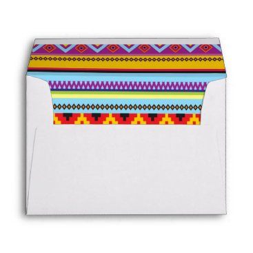 Aztec Themed Mexican Fiesta Aztec Rug mailing envelopes