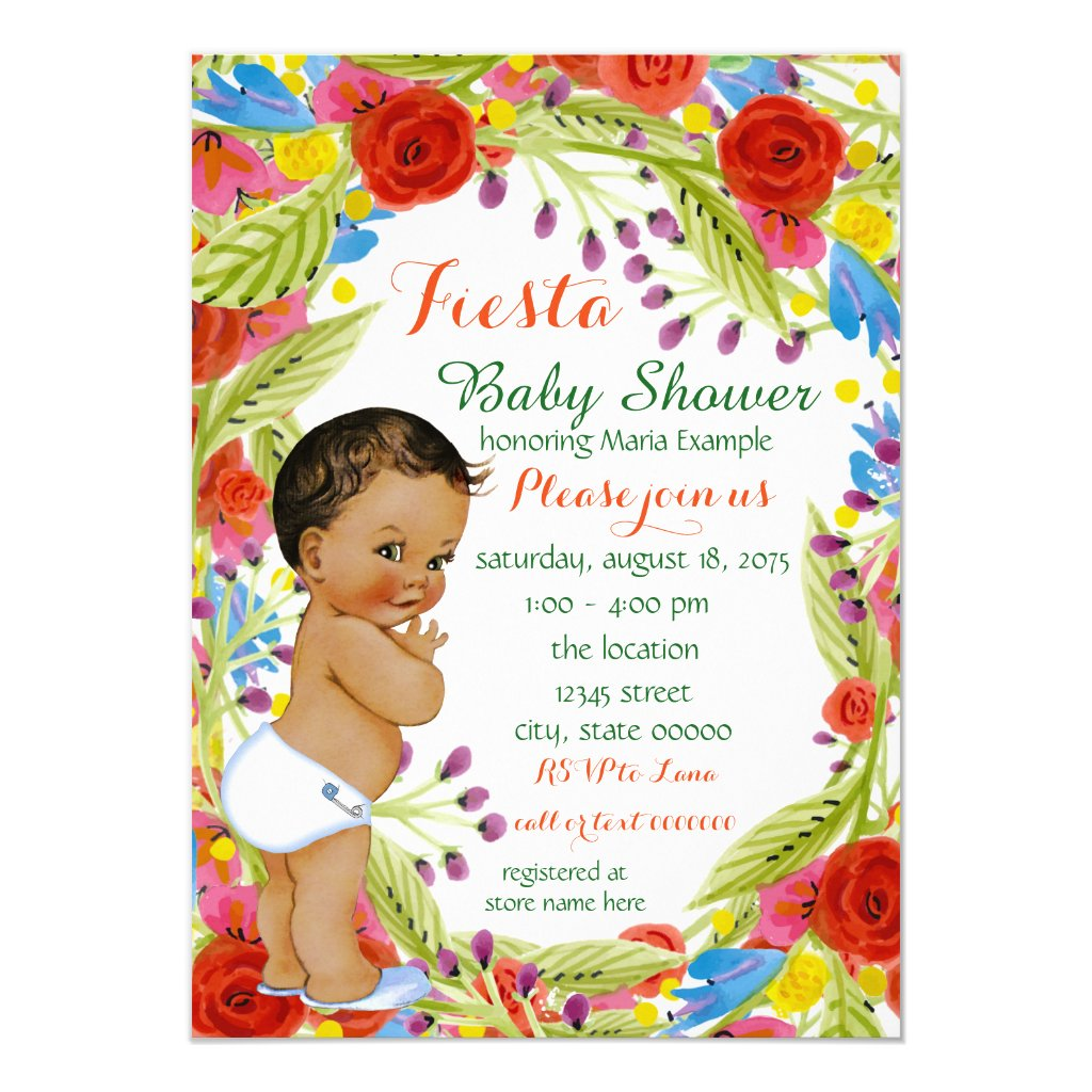 Mexican Fiesta Baby Boy Shower Card