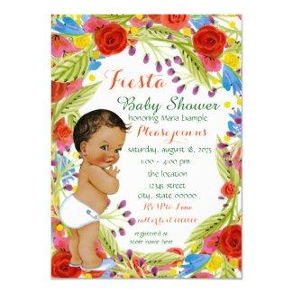 Mexican Fiesta Baby Boy Shower Card