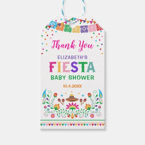 Mexican Fiesta Baby Shower Bridal Party Favors Gift Tags