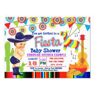 Mexican Fiesta Baby Shower Invitations Boy