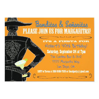 Mexican Fiesta Banditos, Senoritas & Margaritas Personalized Announcements