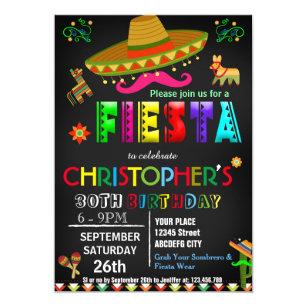 MEXICAN FIESTA BIRTHDAY INVITATION