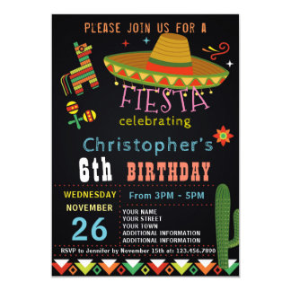 Mexican Fiesta Birthday Party Invitations Announcements Zazzle
