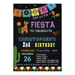 Mexican Fiesta Birthday Invitation Party
