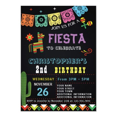 Mexican fiesta invitation boy birthday blue zazzle filmwisefo
