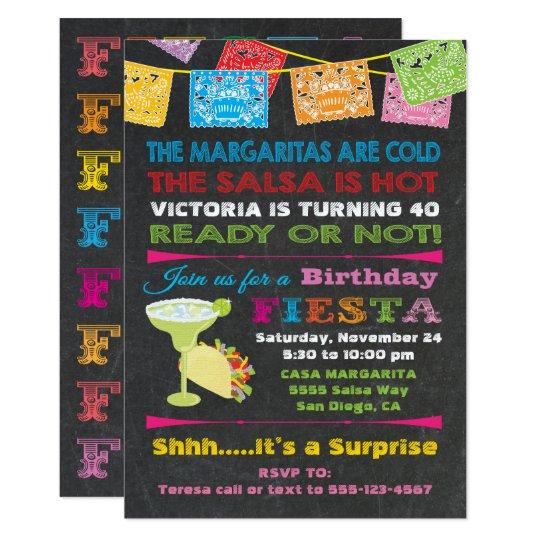 mexican fiesta birthday party invitation zazzle com