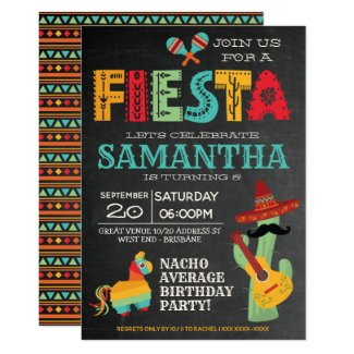Nacho Average Mexican Fiesta Birthday Party Invitation