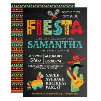 Nacho Average Mexican Fiesta Birthday Party Invitation