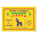 "Mexican Fiesta Birthday Party Invitation 5"" X 7"" Invitation Card"