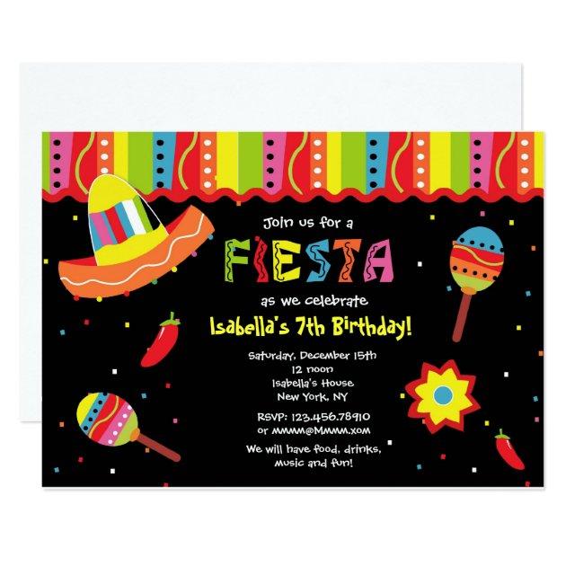 Mexican Fiesta Birthday Party Invitations | Zazzle