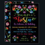 "Mexican Fiesta Birthday Party with embroidery Invitation<br><div class=""desc"">Let&#39;s Fiesta with this pretty and colorful Mexican Fiesta Birthday Party for any age! Features hand drawn embroidered folk art flowers and fun fonts. Need help with the layout? Just email me at tkatz@me.com  Faux embroidery,  this is a drawing</div>"
