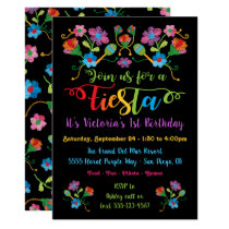 Mexican Fiesta Birthday Party with embroidery Invitation