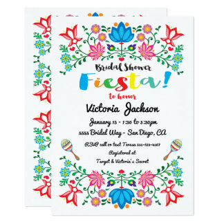 Mexican Bridal Shower Invitations & Announcements | Zazzle