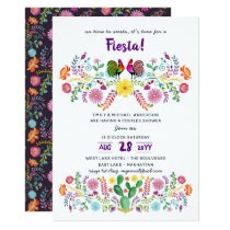 Mexican FIESTA Bridal Shower Invitation Folk Art