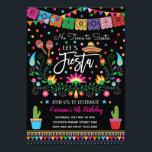 """Mexican Fiesta Cinco De Mayo Birthday Party Invite<br><div class=""""desc"""">Vibrant fiesta birthday invitation for all ages!</div>"""