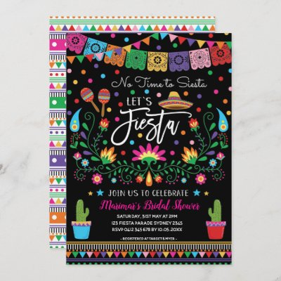 Mexican Fiesta Cinco De Mayo Bridal Shower Invite