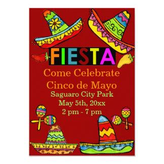 Mexican Fiesta Cinco de Mayo Invitations Red