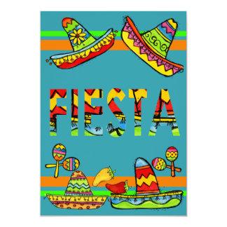 Mexican Fiesta Cinco de Mayo Invitations Teal