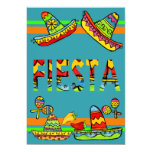 "Mexican Fiesta Cinco de Mayo Invitations Teal 5"" X 7"" Invitation Card"