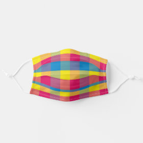 Mexican Fiesta Cinco De Mayo Plaid / Tartan Cloth Face Mask