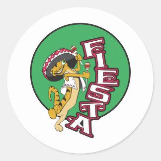 Mexican Fiesta Classic Round Sticker