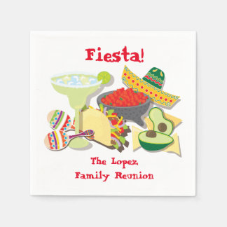 Mexican Fiesta cocktail or luncheon napkins