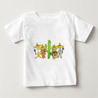 Mexican Fiesta Critters Baby T-Shirt