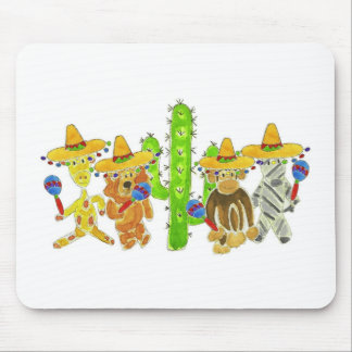 Mexican Fiesta Critters Mouse Pad
