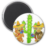 Mexican Fiesta Critters Refrigerator Magnet