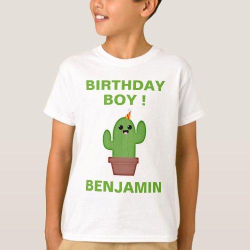 Mexican Fiesta Cute Kawaii Cactus Birthday Party T_Shirt
