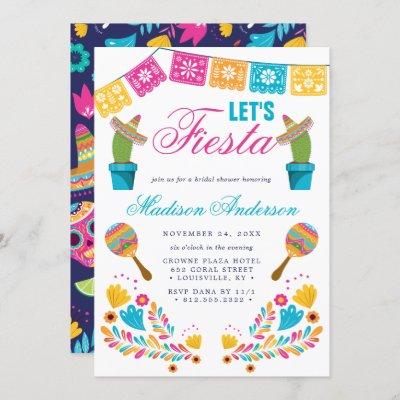 Mexican Fiesta Floral Cactus Bridal Shower Invitation