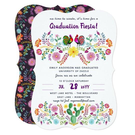 Mexican fiesta graduation invitation folk art zazzle mexican fiesta graduation invitation folk art filmwisefo
