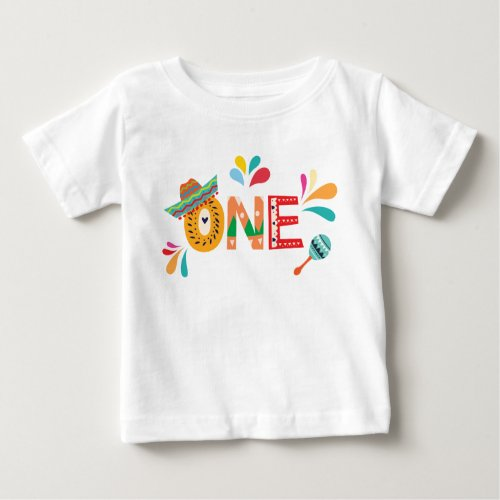 Mexican Fiesta ONE birthday Baby T_Shirt