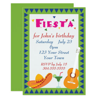 Mexican Fiesta Party Card