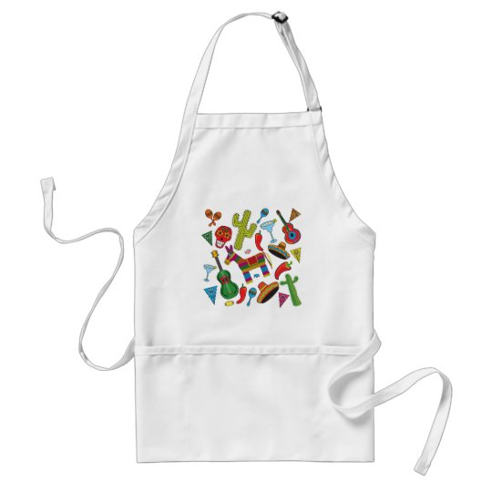 Mexican Fiesta Party Images Adult Apron