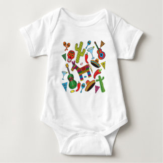 Mexican Fiesta Party Images Baby Bodysuit