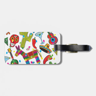 Mexican Fiesta Party Images Bag Tag